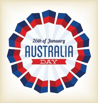 オーストラリアの日 -  1月26日 - 国立色によるタイポグラフィーデザイン