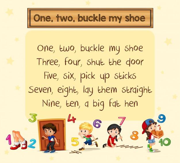 1つ2つは私の靴の歌をバックル