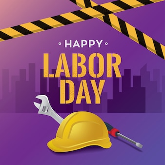 幸せな労働者の日のベクトル図、1月5日連邦休日