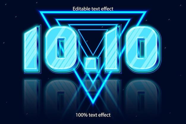 10.10モダンなスタイルの編集可能なtexエフェクトネオン