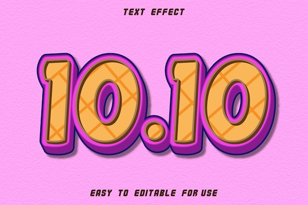 10.10 editable text effect emboss comic style