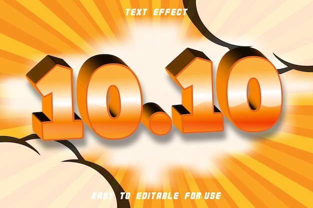 10.10 editable text effect emboss modern style