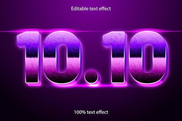 10.10 редактируемый текстовый эффект в стиле ретро