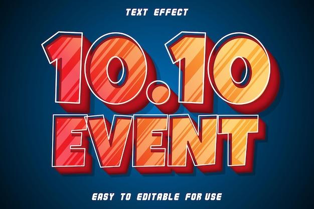 10.10 event editable text effect emboss modern style