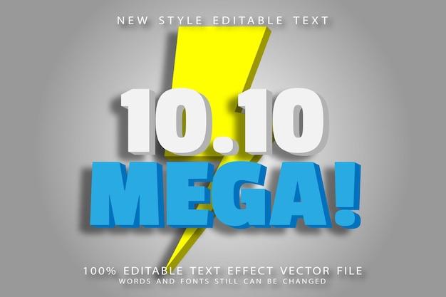 10.10 mega editable text effect emboss modern style