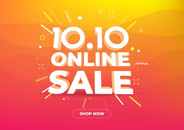 10.10 online shopping day sale banner