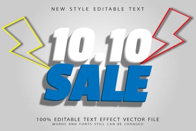 10.10 sale editable text effect emboss vintage style
