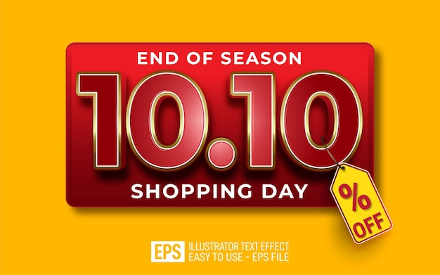 10.10 shopping day editable text