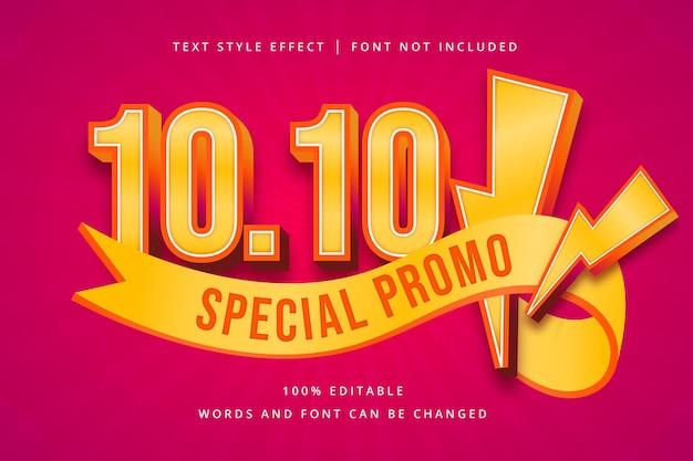 10 10 특별 프로모션 편집 가능한 텍스트 효과