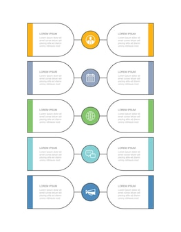 10 data infographics tab thin line timeline template can be used for workflow layout business step