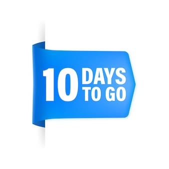 10 days to go poster in flat style.