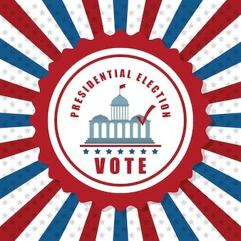 Концепция дня президентов с дизайном значков, векторная иллюстрация 10 eps графики.
