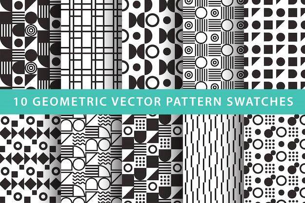 10 geometric  pattern swatches