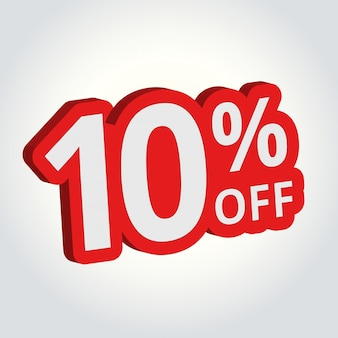 10% off sale tag