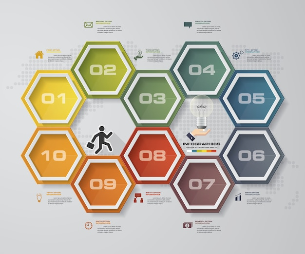 10 options presentation business infographics template.