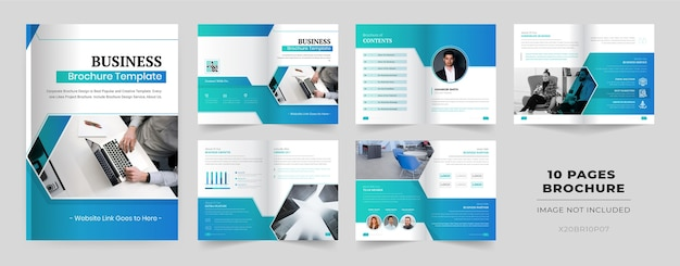 10 pages brochure template