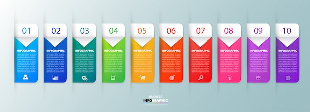 10 steps infographic template