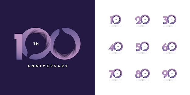 10〜100年記念リボン