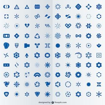 100 абстрактные логотипы, установленные