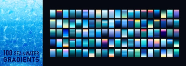 100 amazing sea and water gradients background