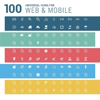 100 cute web and mobile icons