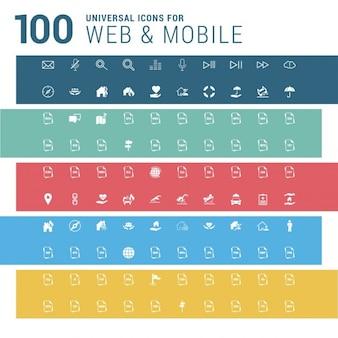 100 webおよびモバイルアイコン