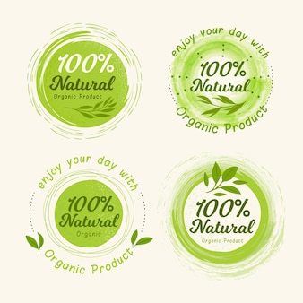 100% natural badge / label collection