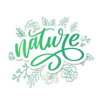 100 натуральных зеленых надписей наклейка с кистью каллиграфии.