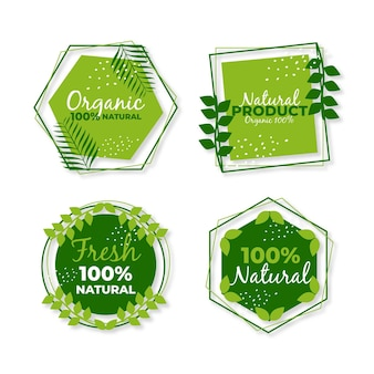 100% natural label set