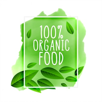 100% organic food lettering