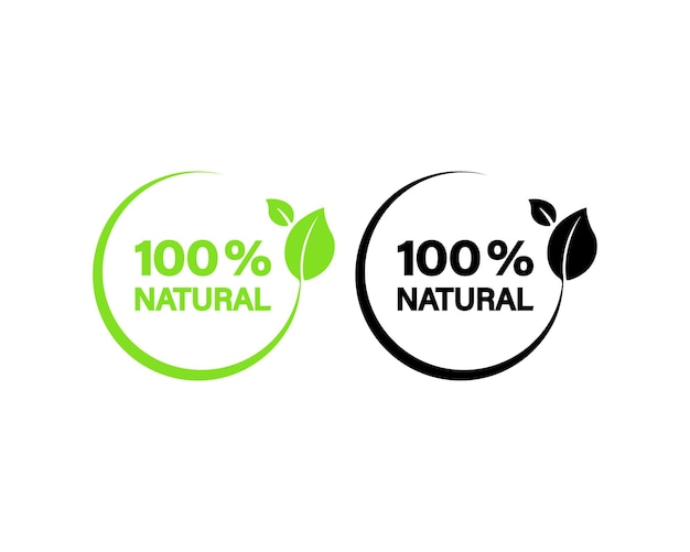 100% натуральный значок