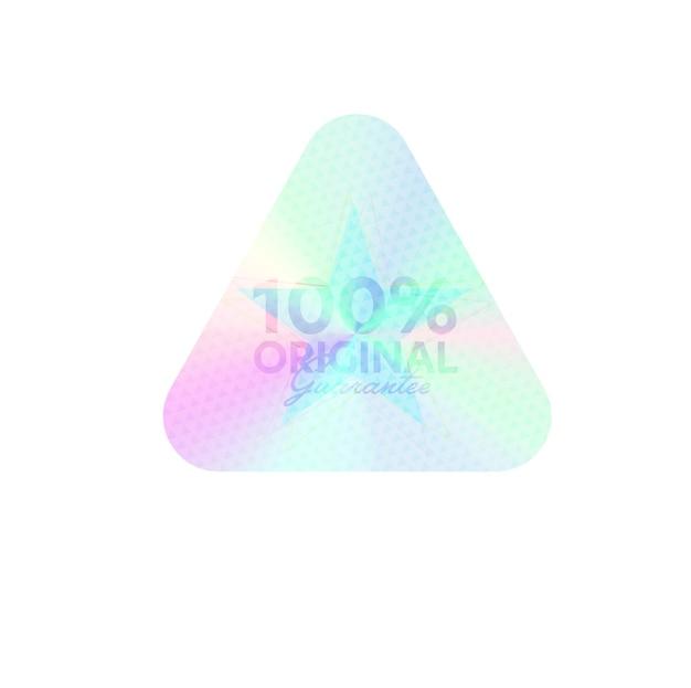 100-процентная оригинальная гарантия радужной блестящей эмблемы Premium векторы