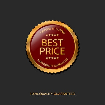 100% quality guaranteed, best price badge