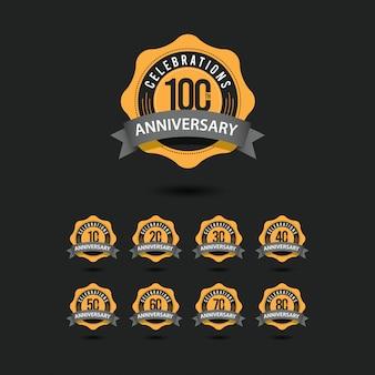 100 주년 기념 행사 벡터 템플릿 디자인 일러스트 레이션