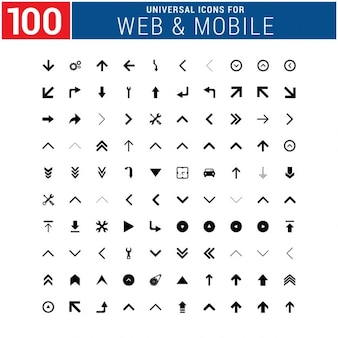 100 universal icon set for web and mobile