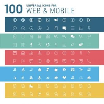 100 universal web icons