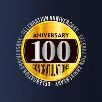 100 years anniversary badge