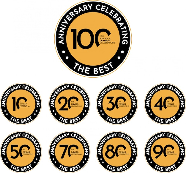 100 years anniversary celebrating the best, template design