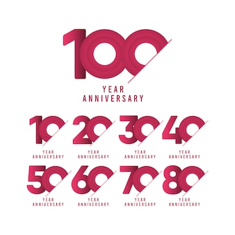 100 years anniversary celebration  template  illustration