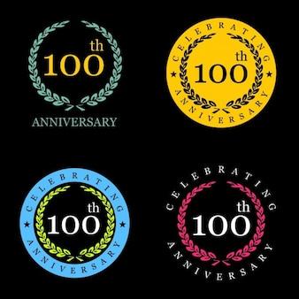 100 years celebrating laurel wreath