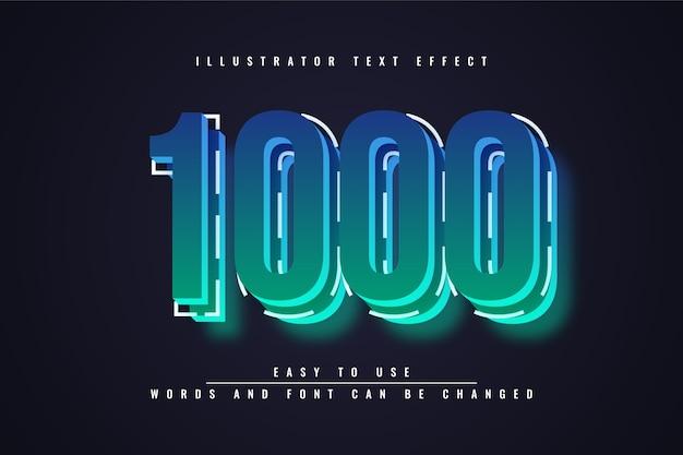1000 - красочный редактируемый текстовый эффект