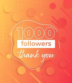 1000 followers, banner for social networks