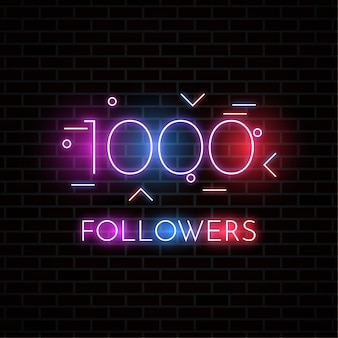 1000 followers design