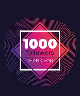 1000 followers, greeting banner