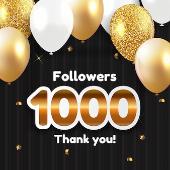 1000 followers, thank you  for social network friends