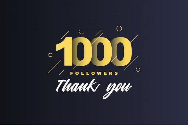 1000 followers thank you