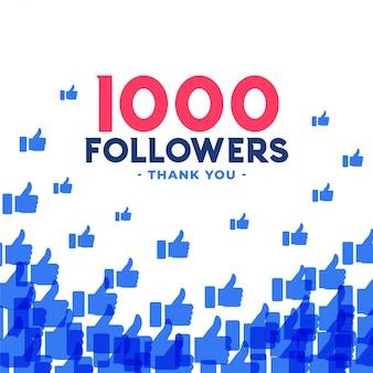 Banner di 1000 follower o abbonati