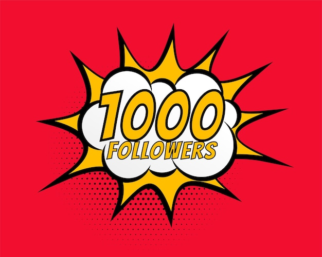 1000 social media followers network connection post design