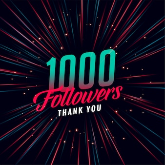 Modello di 1000 follower sui social media