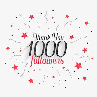 1000 social media followers thank you post design